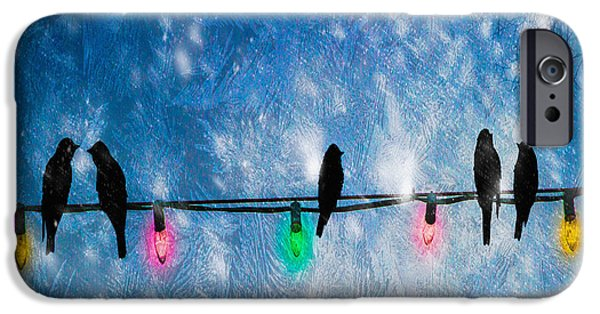 Christmas iPhone Cases - Christmas Lights iPhone Case by Bob Orsillo