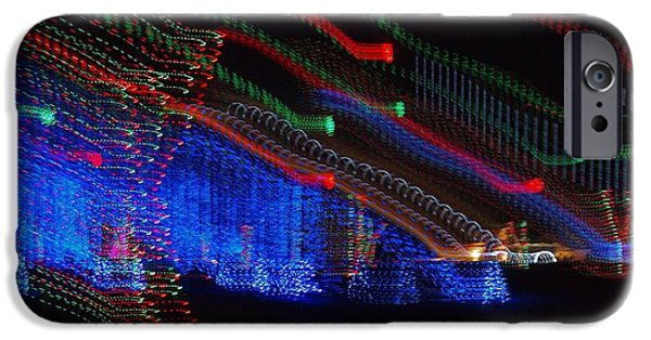 Christmas Eve iPhone Cases - Christmas Lights iPhone Case by Dan Sproul