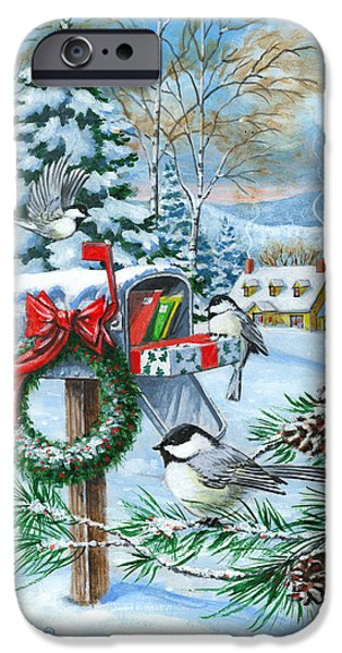 Country Snow iPhone Cases - Christmas Mail iPhone Case by Richard De Wolfe