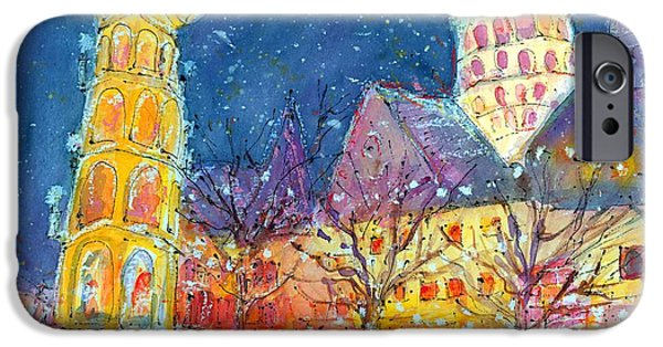 Recently Sold -  - Wintertime iPhone Cases - Christmas Market in Mainz iPhone Case by Ingrid  Becker