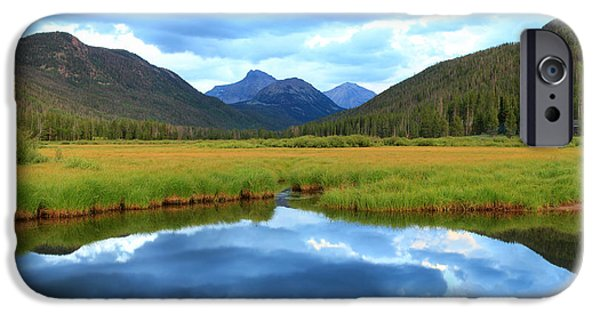 Meadow Photographs iPhone Cases - Christmas Meadows in the Uinta Mountains. iPhone Case by Johnny Adolphson