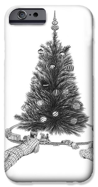 Christmas Morning Play  iPhone Case by Peter Piatt