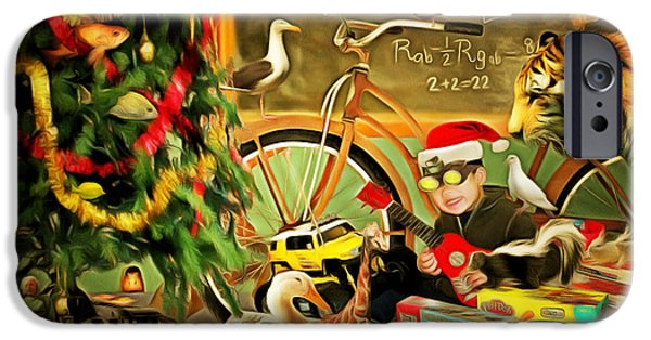 Spoof iPhone Cases - Christmas Mornings Are Magic 20140923 iPhone Case by Wingsdomain Art and Photography
