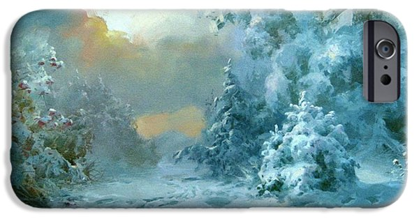 Repulse iPhone Cases - Christmas night fairy Tale iPhone Case by Volodymyr Klemazov