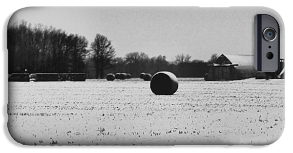 Christmas Eve iPhone Cases - Christmas On The Farm iPhone Case by Dan Sproul