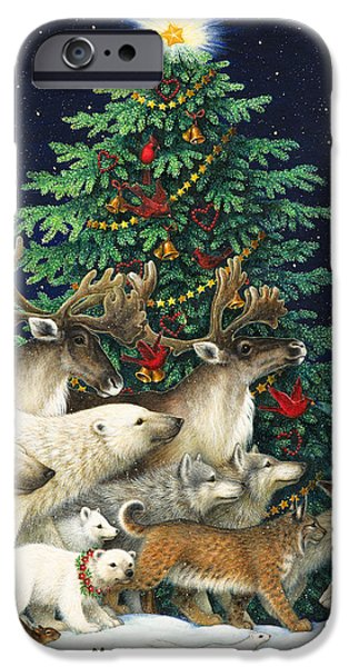 Christmas Tree iPhone Cases - Christmas Parade iPhone Case by Lynn Bywaters