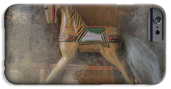 Wood Carving iPhone Cases - Christmas Past iPhone Case by Angie Vogel