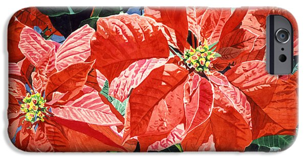 Most Sold iPhone Cases - Christmas Poinsettia Magic iPhone Case by David Lloyd Glover