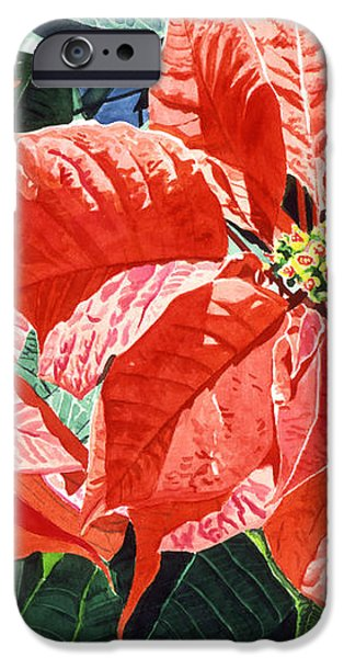 Christmas Poinsettia Magic iPhone Case by David Lloyd Glover
