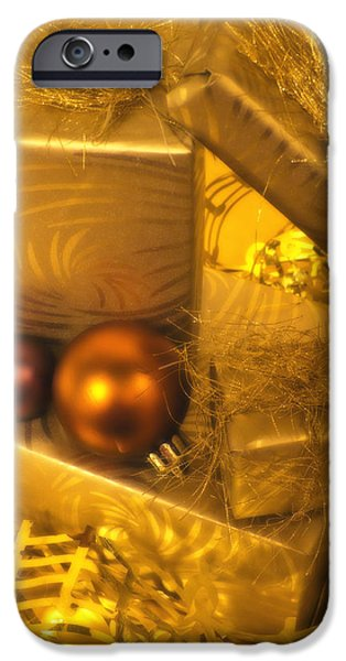Christmas Greeting iPhone Cases - Christmas Presents iPhone Case by Wim Lanclus