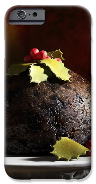 Berry iPhone Cases - Christmas Pudding iPhone Case by Amanda And Christopher Elwell