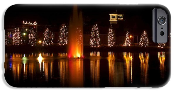 Christmas Greeting iPhone Cases - Christmas Reflection - Christmas Card iPhone Case by Chris Flees