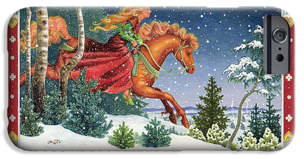 Fairy Tale iPhone Cases - Christmas Ride iPhone Case by Lynn Bywaters
