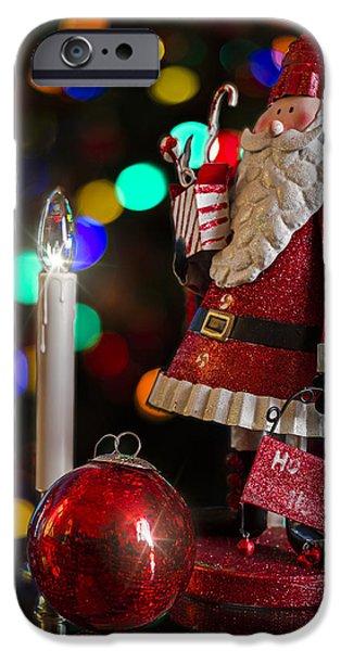 Christmas Eve Digital Art iPhone Cases - Christmas Santa iPhone Case by Eduard Moldoveanu