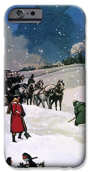 Christmas Scene iPhone Case by English School