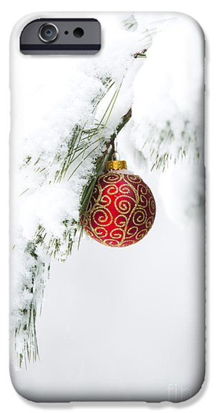 Christmas iPhone Cases - Christmas Snow iPhone Case by Diane Diederich