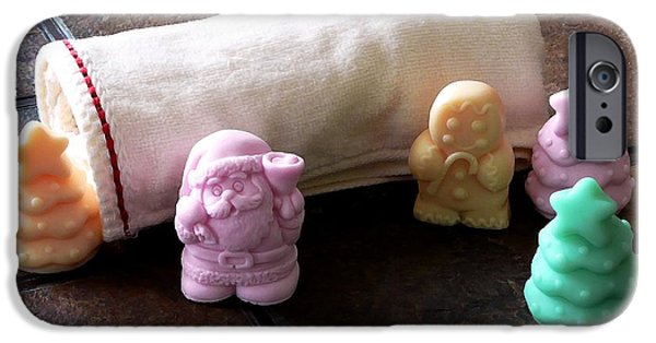 Pines iPhone Cases - Christmas Soap iPhone Case by Anastasiya Malakhova