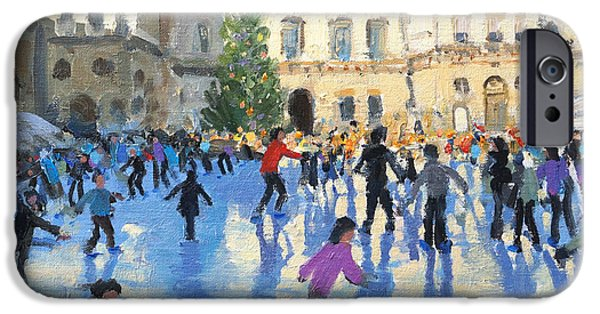 Somerset iPhone Cases - Christmas Somerset House iPhone Case by Andrew Macara