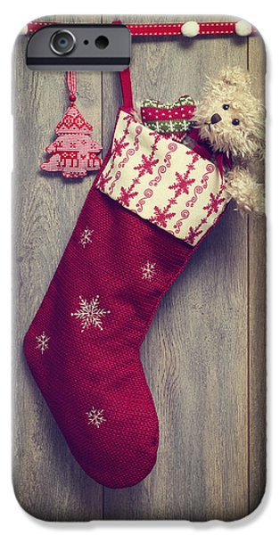 Christmas iPhone Cases - Christmas Stocking iPhone Case by Amanda And Christopher Elwell