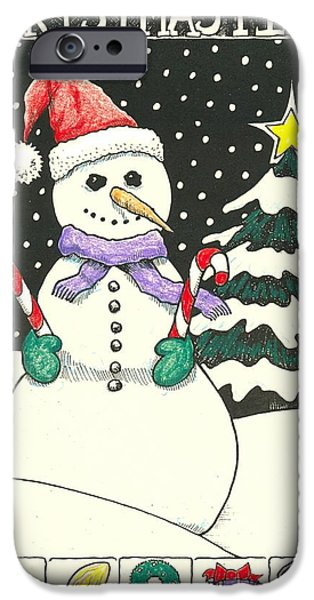 Christmas Eve Drawings iPhone Cases - Christmas Time iPhone Case by Ralf Schulze