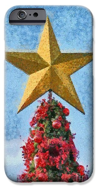 Christmas tree iPhone Case by George Atsametakis