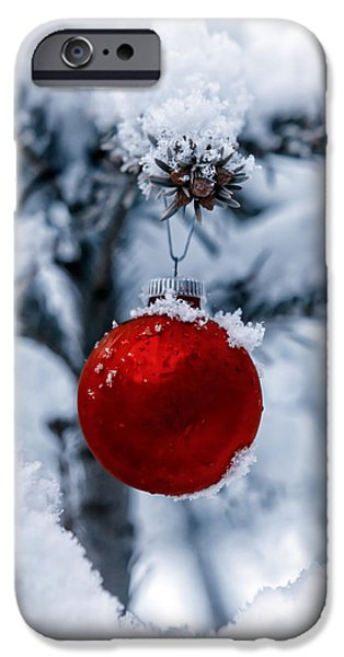 Christmas Tree iPhone Cases - Christmas Tree iPhone Case by Joana Kruse