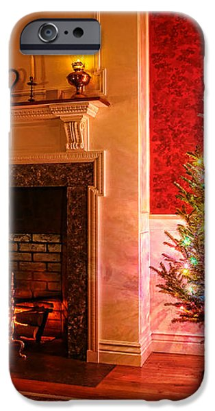 Christmas Tree iPhone Case by Olivier Le Queinec