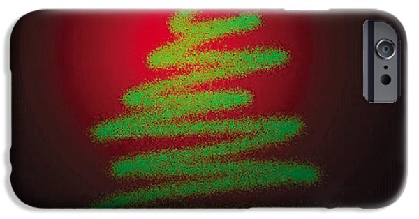 Genevieve Esson iPhone Cases - Christmas Tree With Star iPhone Case by Genevieve Esson