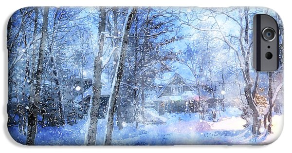Winter Scene iPhone Cases - Christmas Wishes iPhone Case by Claire Bull