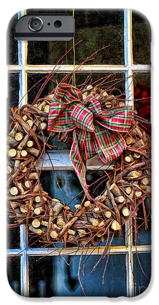 Custom Made iPhone Cases - Christmas Wreath iPhone Case by Darren Fisher