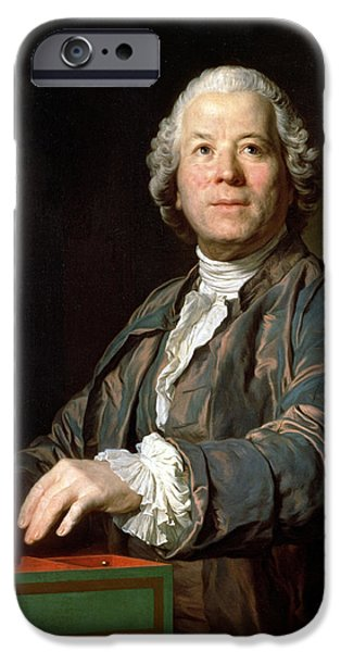 Piano iPhone Cases - Christoph Willibald Gluck 1714-87 At The Spinet, 1775 Oil On Canvas iPhone Case by Joseph Siffred Duplessis