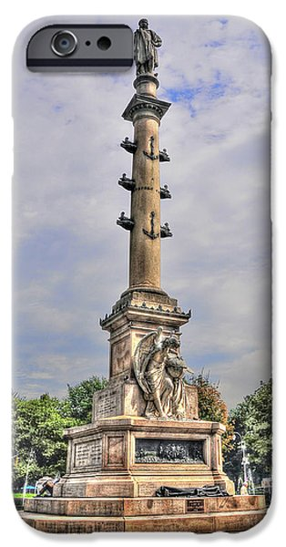 Christopher Columbus iPhone Cases - Christopher Columbus Monument at Columbus Circle in Manhattan iPhone Case by Randy Aveille