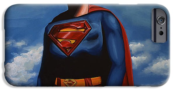 Film iPhone Cases - Christopher Reeve as Superman iPhone Case by Paul  Meijering