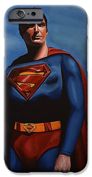 Christopher Reeve as Superman iPhone Case by Paul  Meijering