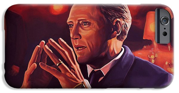 Evening Paintings iPhone Cases - Christopher Walken iPhone Case by Paul  Meijering