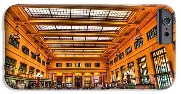 Old Bus Stations Photographs iPhone Cases - Christos Saint Paul Union Depot iPhone Case by Amanda Stadther