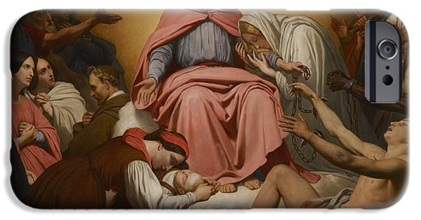 Forgiveness Paintings iPhone Cases - Christus Consolator iPhone Case by Ary Scheffer