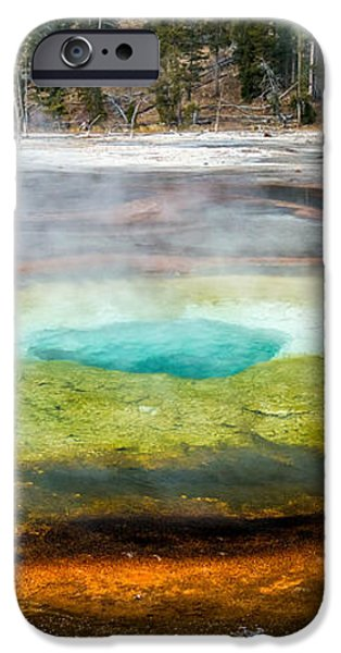 Chromatic pool Yellowstone iPhone Case by Pierre Leclerc Photography