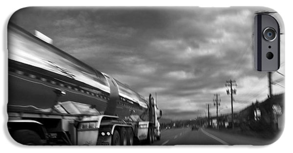 Canadian Photographer iPhone Cases - Chrome Tanker iPhone Case by Theresa Tahara