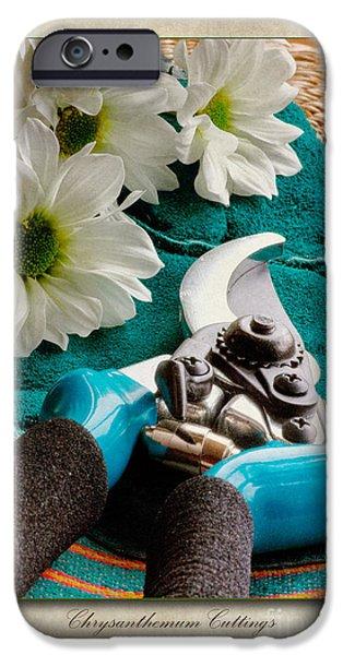 Chrysanthemum Cuttings iPhone Case by John Edwards