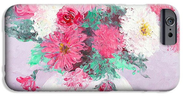 Flower Of Life iPhone Cases - Chrysanthemums iPhone Case by Jan Matson
