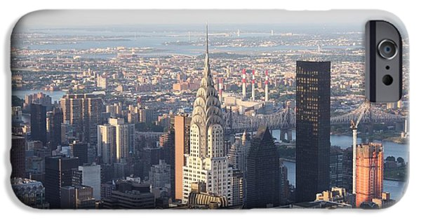 Empire State iPhone Cases - Chrysler Building from the Empire State Building iPhone Case by John Telfer
