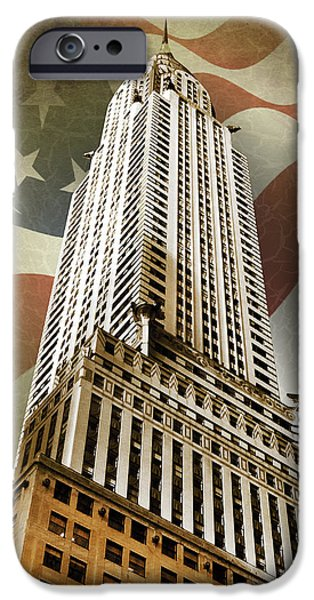 Chrysler iPhone Cases - Chrysler Building iPhone Case by Mark Rogan