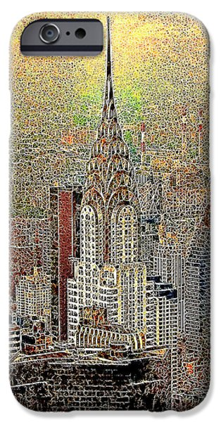 Wing Chee Tong iPhone Cases - Chrysler Building New York City 20130425 iPhone Case by Wingsdomain Art and Photography
