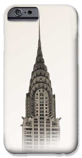 Buildings iPhone Cases - Chrysler Building - NYC iPhone Case by Nicklas Gustafsson