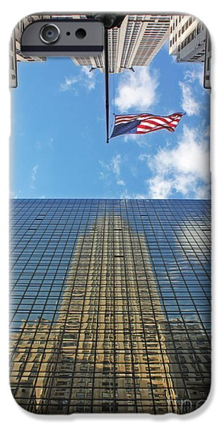 High Tower iPhone Cases - Chrysler Building Reflections Vertical 1 iPhone Case by Nishanth Gopinathan