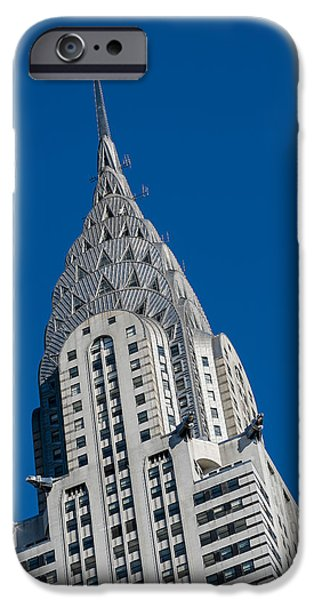 Manhattan iPhone Cases - Chrysler Building iPhone Case by Susan Candelario
