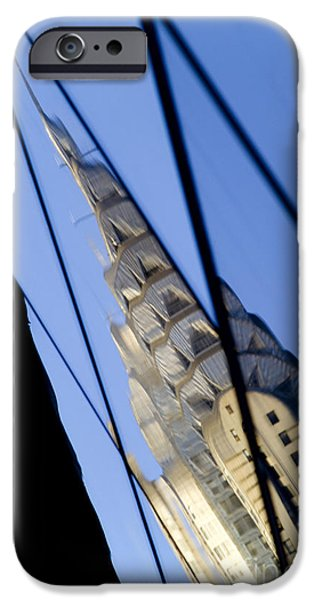 Total Abstract iPhone Cases - Chrysler Building iPhone Case by Tony Cordoza