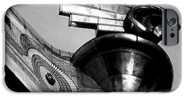 Stainless Steel iPhone Cases - Chrysler Building Wings - Profile iPhone Case by James Aiken