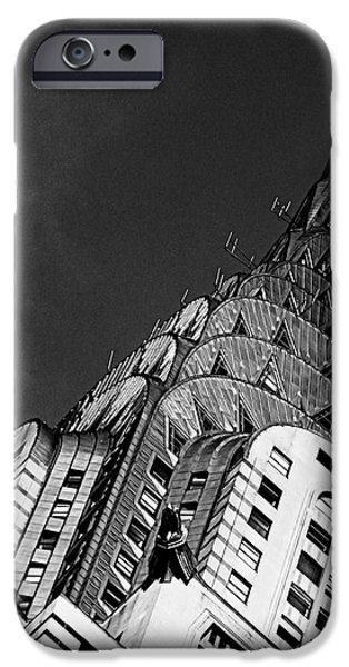 Stainless Steel iPhone Cases - Chrysler Buildings Apex iPhone Case by James Aiken